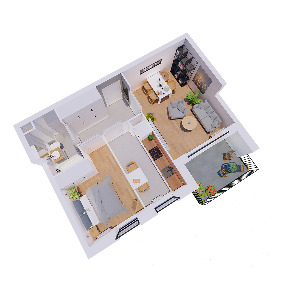 Mieszkanie 2-pokojowe R-A-1