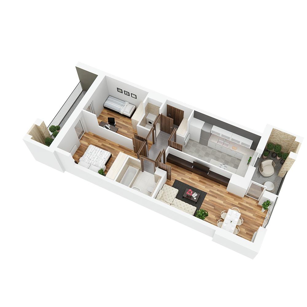 Mieszkanie 3-pokojowe PP-26-18