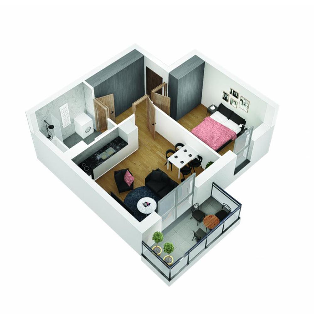 Mieszkanie 2-pokojowe OU-4-23