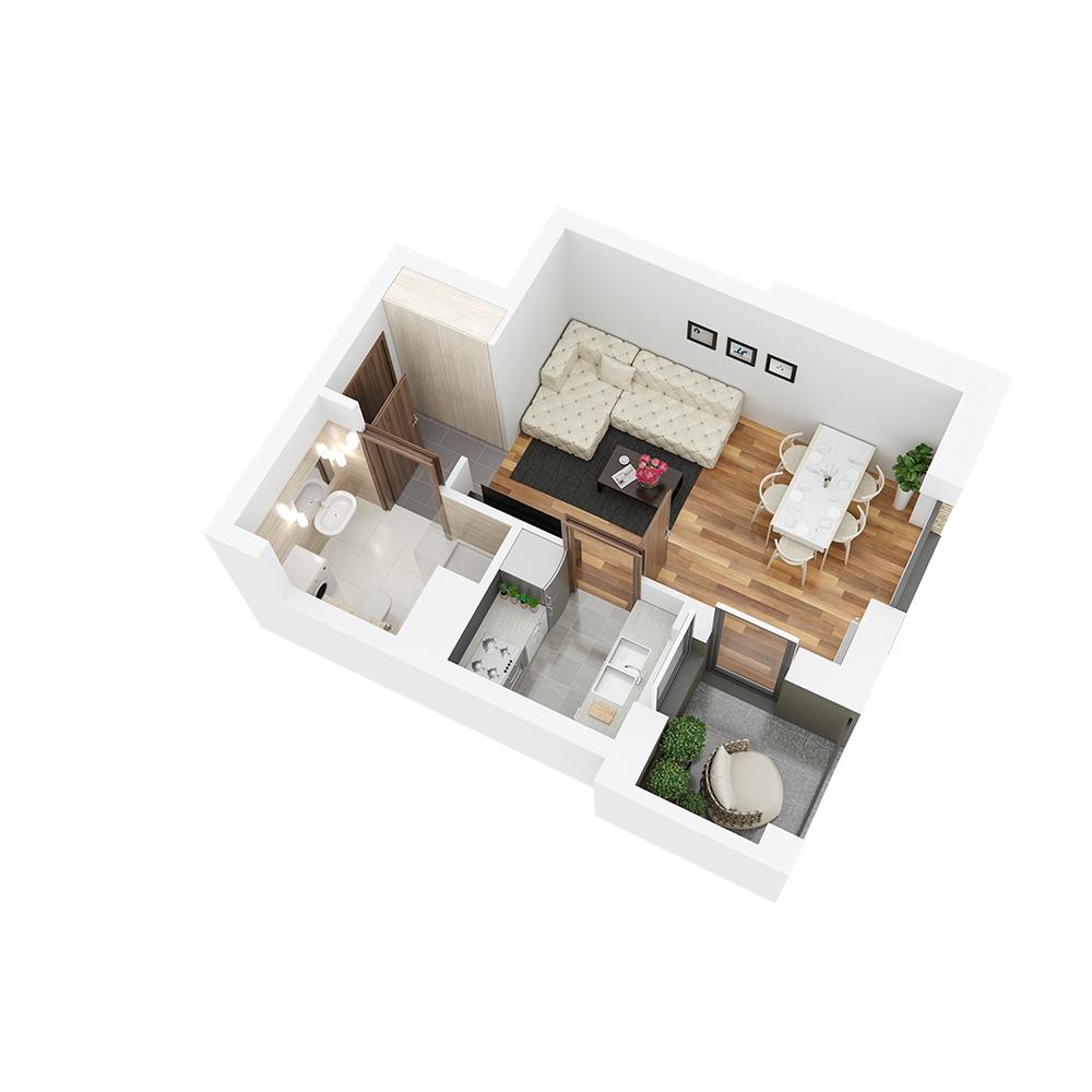 Mieszkanie 1-pokojowe PP-26-34