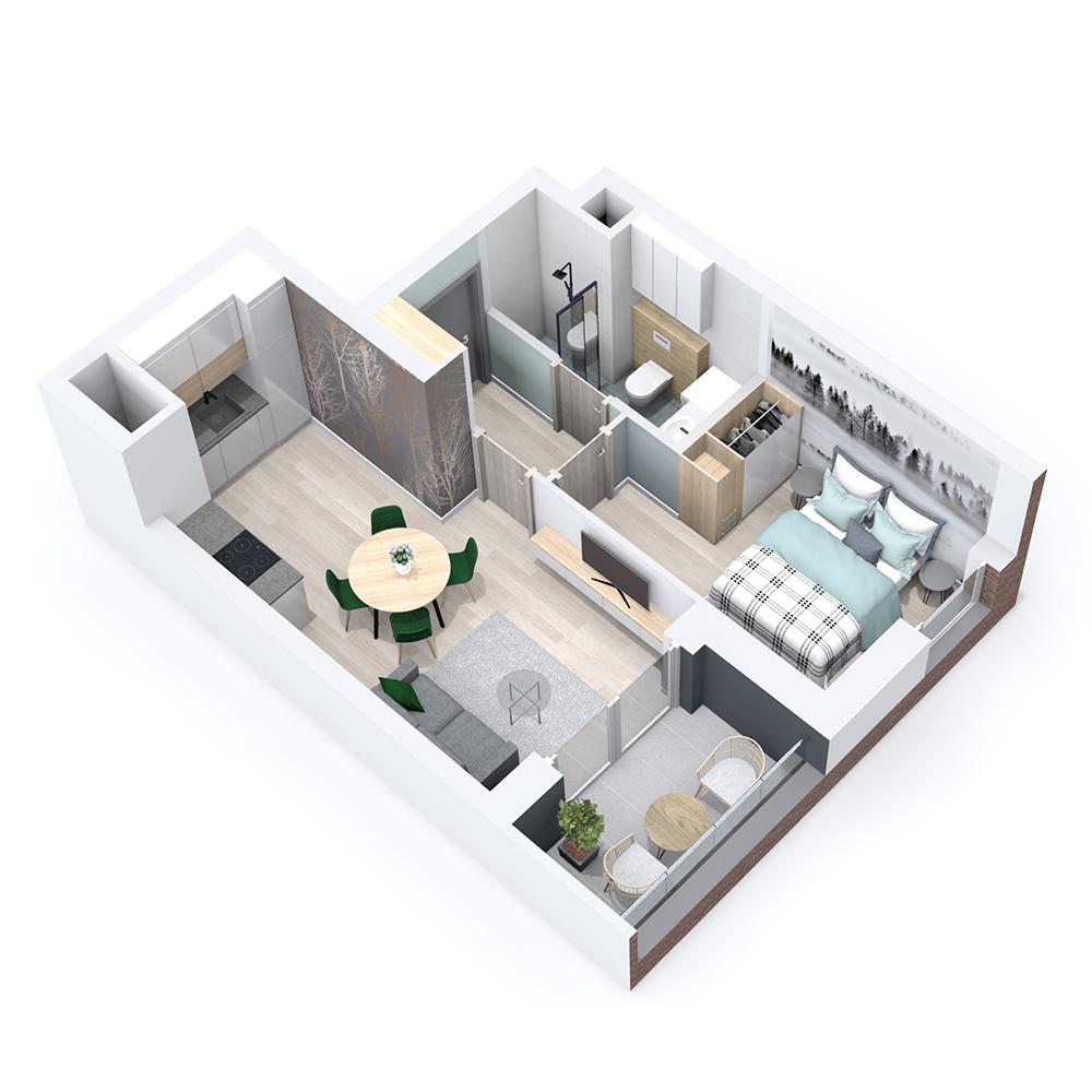 Mieszkanie 2-pokojowe PP-8B-32