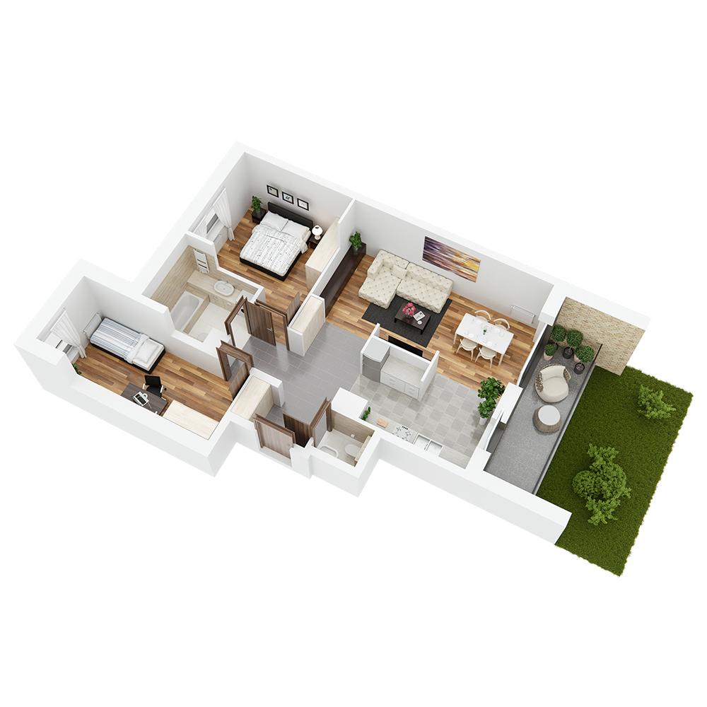 Mieszkanie 3-pokojowe PP-26-25