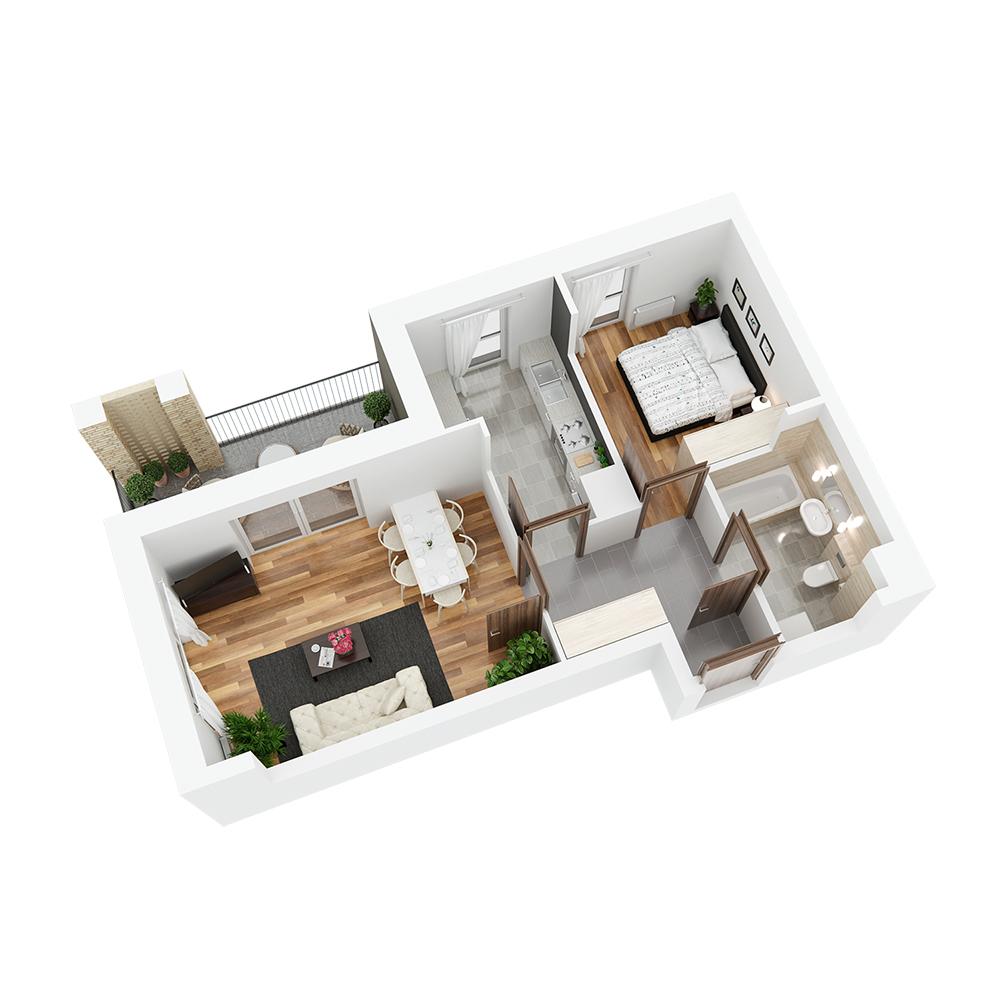 Mieszkanie 2-pokojowe PP-24-15