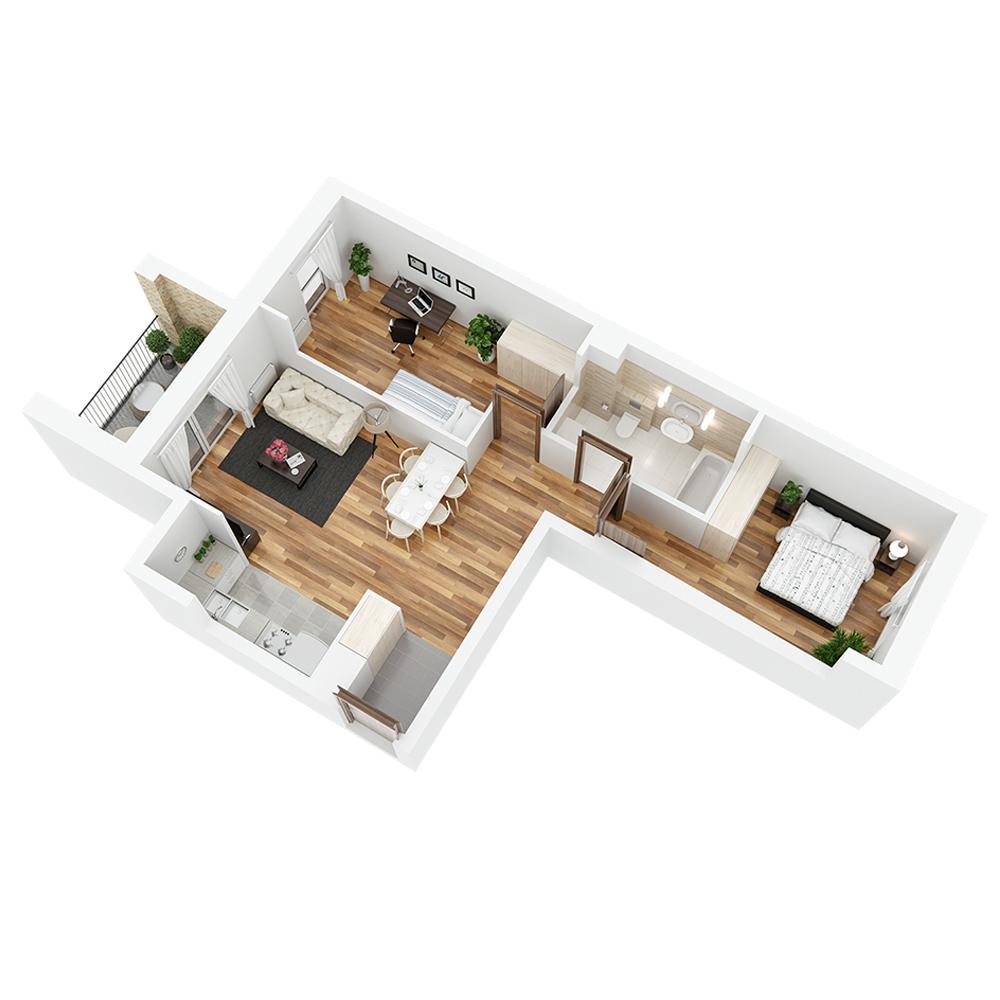Mieszkanie 3-pokojowe PP-24-46