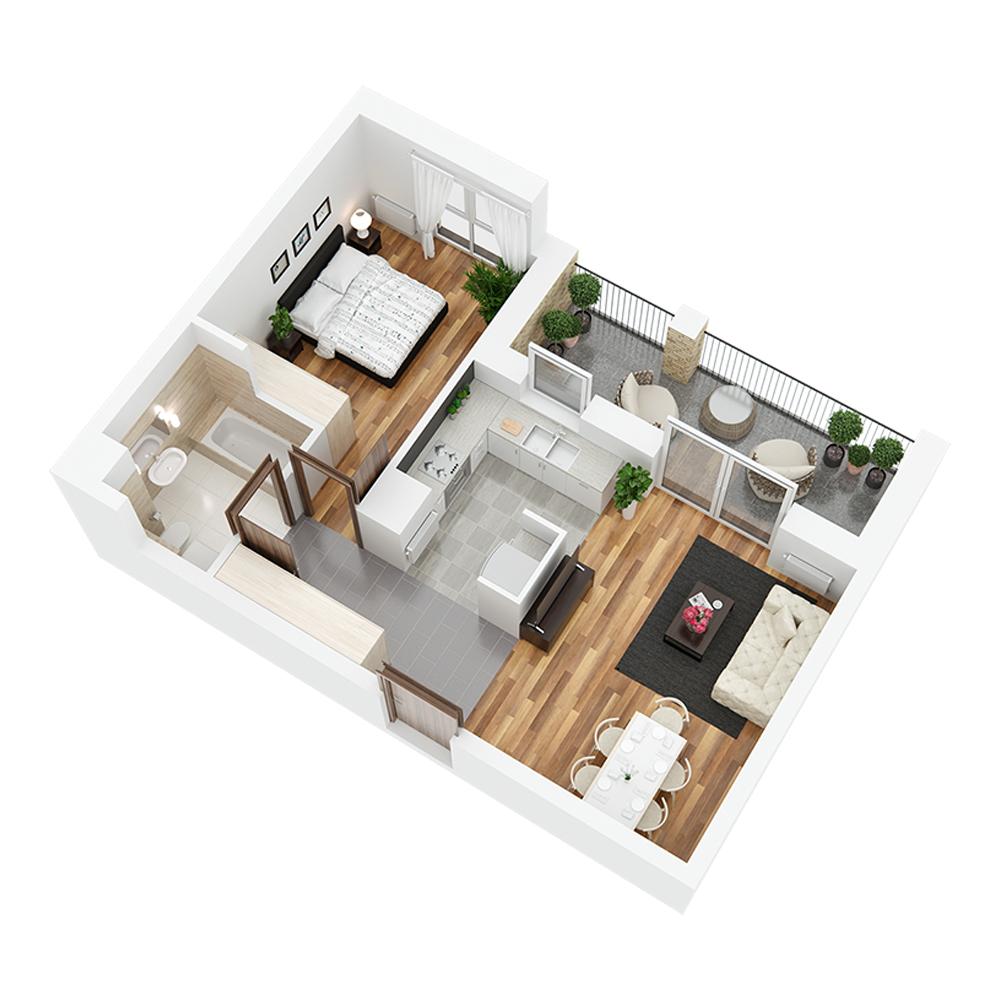 Mieszkanie 2-pokojowe PP-24-50