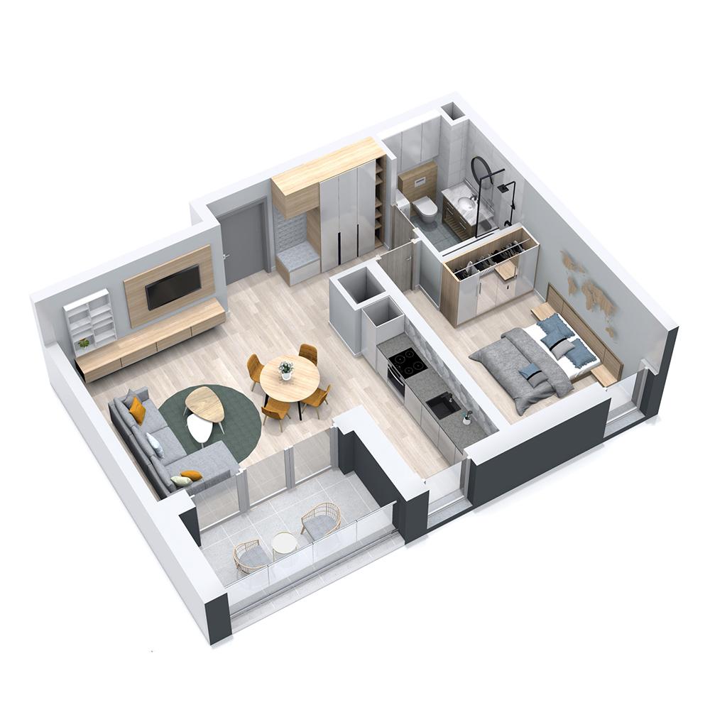 Mieszkanie 2-pokojowe PP-8C-11