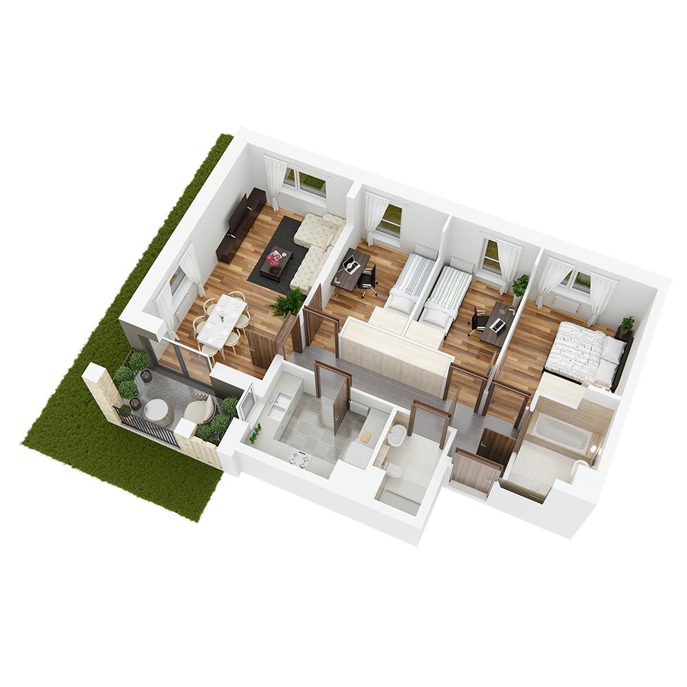 Mieszkanie 4-pokojowe PP-26-79