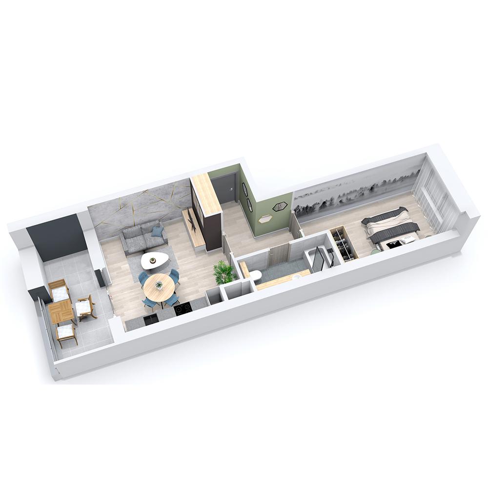 Mieszkanie 2-pokojowe PP-8C-54