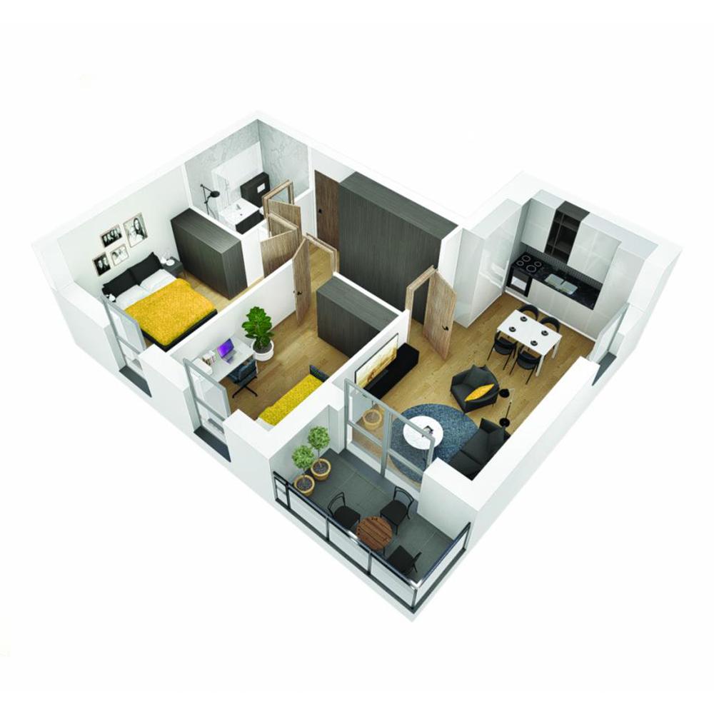 Mieszkanie 3-pokojowe OU-4-7