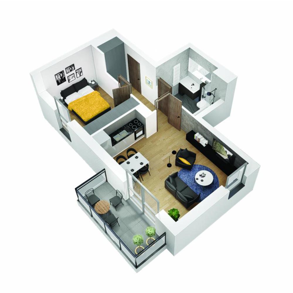 Mieszkanie 2-pokojowe OU-5-36
