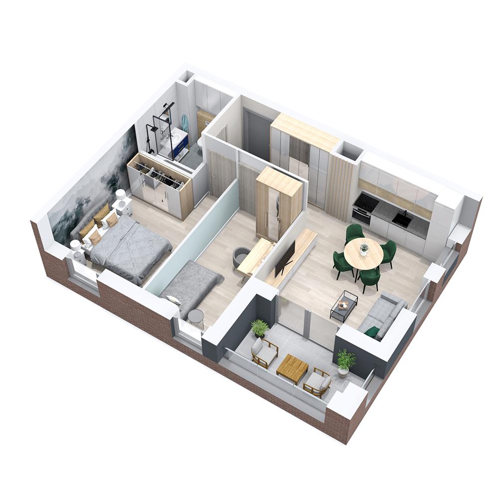 Mieszkanie 3-pokojowe PP-8B-15